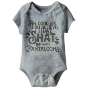 American Classics Shat In My Pantaloons Grey Infant Baby Snapsuit Creeper Romper