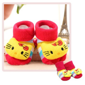 Newborn Baby Toddler Anti Slip Floor Socks Breathable Cotton Prewalker Shoes 3D Lovely Dolls Crib Slippers