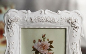 Picture Frames - Beautiful White Garden Photo Frame for Table Top or Wedding Table Decor