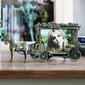13cm Picture Frame Vintage Horse carriage Photo Frames,Wedding gift Home Decoration
