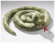 Soft Toy Snake green, 20cm diameter. [Toy]