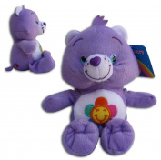 "Harmony Bear 16""/42cm' Super Soft Teddy Toy Care Bear Plush Blue Violet Smiling flower Serie TV"