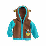 Joobles Fair Trade Organic Baby Cardigan Jumper - Mel the Monkey