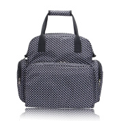 Boshiho® All in One Maternity Bag Polka Dot Pattern Travel Nappy Bag Baby Changing Pad Mommy Tote Bag