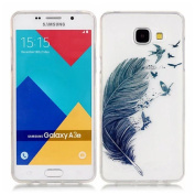 Samsung A3 2016 Case,Samsung A3 2016 TPU Case, Samsung A3 2016 Transparent Cover,Cover for Samsung A3 2016,Case for Samsung A3 2016,Ultra Slim Soft TPU [Scratch-Resistant] [Perfect Fit] Cover,Feather Flying Design Transparent See Through Protective Cas ..