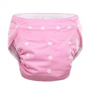 Enjoydeal Adjustable Newborn Bay Kits Pure Cotton Reusable Nappy Cloth Nappy Pink