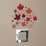 32 Leaves Rustic Autumn Indoor or Outdoor Wall Art Stickers on a Sheet of A4