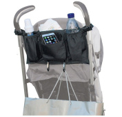 Lalang Pram Storage Bags Baby Stroller Pushchairs Cup Bottle Drinks Food Phone Holder Organiser with 2 Hooks