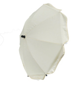 New 70cm Universal Flexible Foldable Baby Umbrella Paraspl For Any Pram Pushchair Stroller - Cream