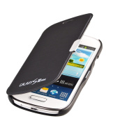 Samsung Galaxy S3 Mini i8200 Flip Cover Case Cover with magnetic closure in black by PhoneStar
