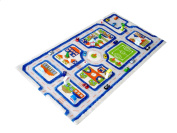 IVI Hypo-Allergenic Child's Play Mat and Rug in a Colourful Town Design with