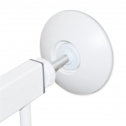 Cunina Pressure gate wall saver, Protect Door Stair Wall Surface When Mount Baby Gates, Also for Shower Curtain with Tension-Mounted Rods, 2-Pack (WHITE)