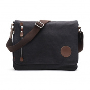 Canvas Bag Casual Shoulder Bag Schoolbags Black Messenger Bags Suitable for Men and Women Travelling Sports Hiking School
