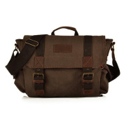 Man Canvas Bags Vintage Messenger Casual Shoulder Bag Outdoor Travel Bags £¨Coffee£©