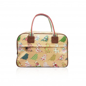 SALE Birds & Flowers 'Cath Kidston' Designer Style Matte Canvas Overnight Weekend Bag