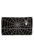 MyBatua Lillian Black Spider Web Clutch Bag Beautiful Design Handbag ACP-424