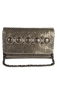 Chloe Antique Silver Hand Crafted Brass Framed Clutch Bag ACP-480