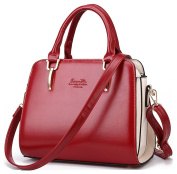 OULINBEIN Women's Tote Handbag Shoulder Bags Cross Body Bag Hobo Wine Red Synthetic leather