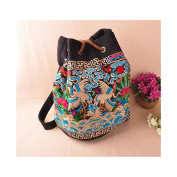 National Bag Fashionable Stylish Shoulders Bag Multi-functional Travel Bag Embroidery National Style Schoolbag red-crowned crane