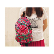 National Style Embroidered Bag Stylish Featured Shoulders Bag Fashionable Woman Bag Chinese herbaceous peony