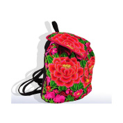 National Style Embroidered Bag Stylish Featured Shoulders Bag Fashionable Woman Bag woollen yarn peony