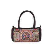 Yunnan National Bag Embroidered Bag Featured Round Pipe Shape Pillow Shape Single-shoulder Bag Handbag silver and white zamioculcas zamiifolia