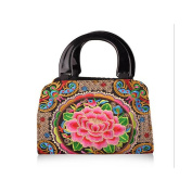Yunnan National Style Embroidered Bag Woman Bag Night Market Hot Sold Fashionable Embroidery National Bag peony