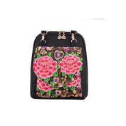Yunnan National Style Featured Woman Embroidered Shoulders Bag Chinese Style Bag peony