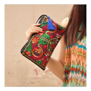 Fashioanble National Style Handbag Vintage Woman Embroidery Small Bag Coin Case Dragon
