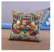 Festival Gift Original Embroidery Cushion Cover National Style Inn Hotel Embroidery Boster Case games in lotus pool