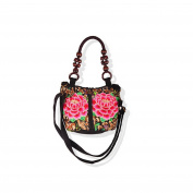 National Style Embroidery Fashionable Woman Bag Embroidery Single-shoulder Bag Messenger Bag peony flower