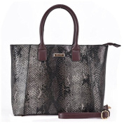 SY2031 Brown - Sally Young Exotic Multicolor Python Leather Handbags