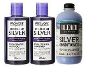 (3 PACK) Pro:voke Touch of Silver Brightening Shampoo 2 x 150ml & Bleach London Silver Conditioner 250ml