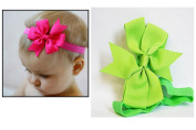Girl Baby & Child Large Green Bow Hair Headband