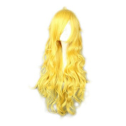 MeiruiHair Cosplay Wigs Long Curly Wavy Yang Xiao Long Yellow Lovely Full Hair 80cm For Girls