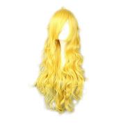 MeiruiHair Cosplay Wigs Long Curly Wavy Yang Xiao Long Yellow Lovely Full Hair 80cm For Girls