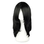 "MeiruiHair 17.7"" 45cm Black Long Straight Anime Cosplay Wig-- Naruto Orochimaru Wig"
