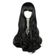 MeiruiHair Cosplay Wigs Blake Belladonna Black 70cm Long Curly Wavy Black Full Hair