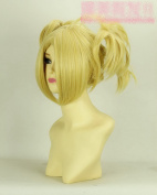 straight golden Medium cosplay wig Wig cosplay wigs - Naruto Temari golden four horsetail wig new style