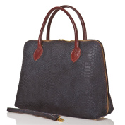 azzesso Women's Top-Handle Bag Blue BLUE Made in Italy