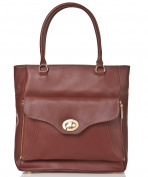 azzesso Women's Top-Handle Bag Brown Kastanie