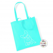 French Bulldog 100% Cotton Tote Bag Frenchie Gift Present