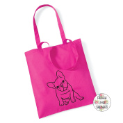 French Bulldog 100% Cotton Tote Bag Frenchie Gift Present