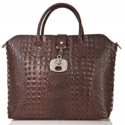 azzesso Women's Tote Bag Brown Chocolate