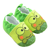 Lyshi Baby Soft Sole First Walking Shoes Frog Prince Toddler Sneakers