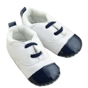 Lyshi Baby Toddler First Walking Shoes Anti-slip Soft Leather Sneakers