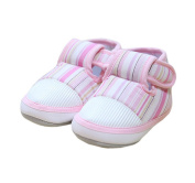 Baby Girl Toddler Soft Sole Multicolor Stripes First Walking Shoes