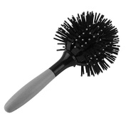 3d Hair Brush Sphere Ball Style Detangling Curling Heat Resistant Blow Drying Comb Salon Antistatic Bristles Eliminates Frizz Grey
