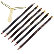 6PC Pro Makeup Waterproof Eyebrow Enhancer Pencil WITH DIY Eyebrow Template Stencil Shaping Too