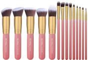 BS-MALL(TM) 14 PCS Professional Makeup Brush Set, Cosmetics Foundation Blending Blush Eyeliner Face Powder Brush Makeup Brush Kit